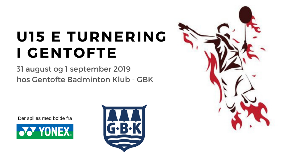 Badmintonturnering i Gentofte Badminton Klub for U15 Elite